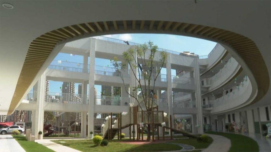 乐清市融媒体中心报道我市一批新校舍启用